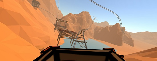 Mine Cart Roller Coaster Ride (Oculus Go)